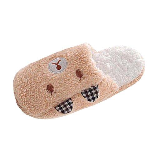 Invernali Uomo Scarpe Marrone Coppie orso Confortevole Pantofole Casa Slipper Donna Interno xtZC6qFw