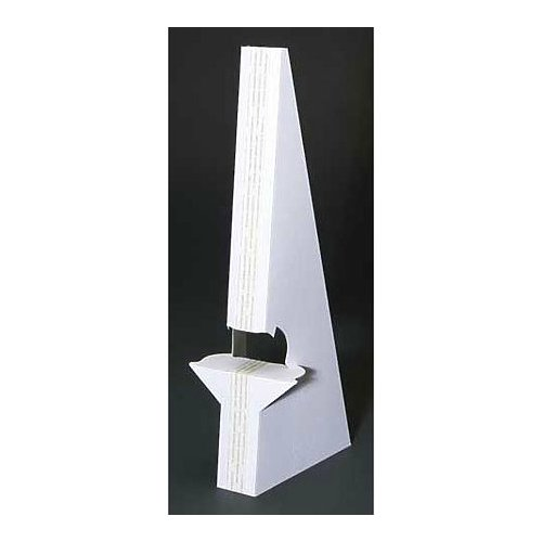 Lineco Self Stick Easel Backs 5 in. white pack of 25