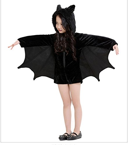 Jovi Elf Halloween Costume (DIMORRY 5-17 Years Teenagers Cosplay Costume Girls Clothes Bat Dress Halloween Hooded Party Clothing Christmas Kids Dress)