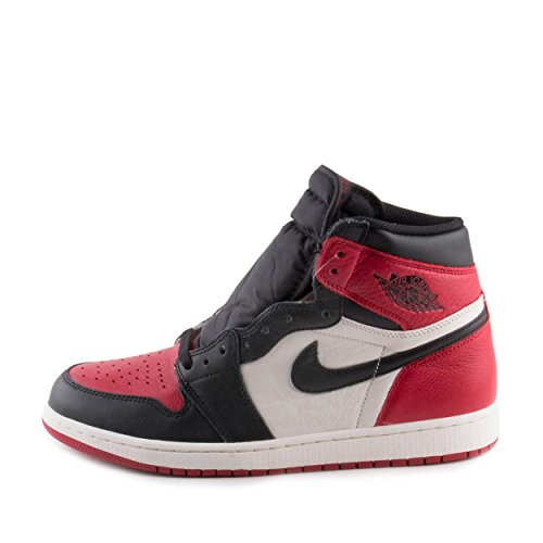 cf5a190d4ed SHOPUS | Nike Mens Air Jordan 1 Retro High OG Bred Toe Red/Black ...