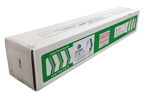 EZ on the Earth 4ft Lamp Recycling Kit for fluorescent light recycle up to 4-ft lamps, STANDARD (ship up to 30 T12 or 71 T8 lamps)