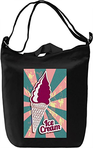 Purple Ice Cream Borsa Giornaliera Canvas Canvas Day Bag| 100% Premium Cotton Canvas| DTG Printing|