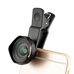 Arealer® Wide Angle Clip-on Cell Phone Lens Kit, Professional 18MM Camera Lens Wider Landscape High Clarity with Case for iPhone 6 / 6S Plus