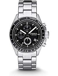 Men's Decker Analog-Quartz Watch with Stainless-Steel Strap, Silver, 22 (Model: CH2600IE)