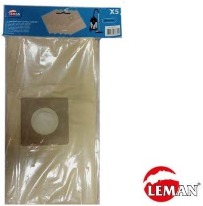 Lote de 5 bolsas de papel Filtros para aspirador loasp306 Leman abr333: Amazon.es: Bricolaje y herramientas