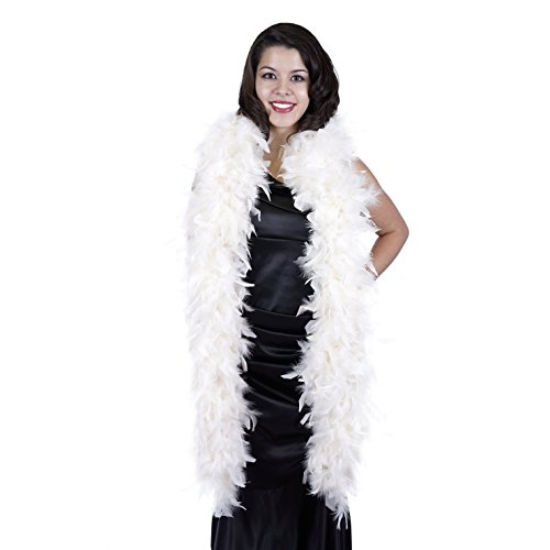 Zucker Feather Products Heavy Weight Decorative Chandelle Boa, Ivory for $<!--$9.50-->