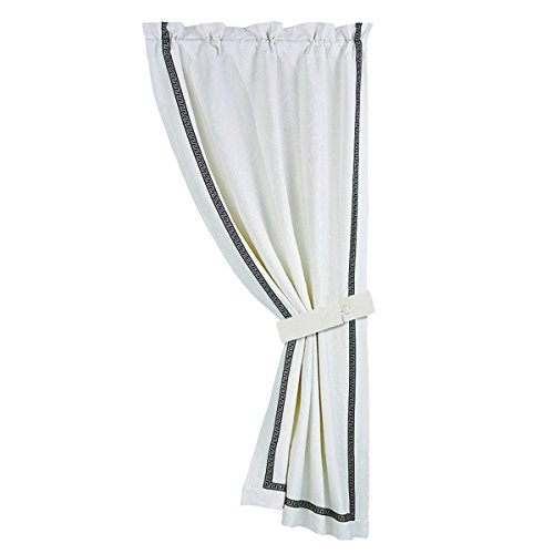 HiEnd Accents FB4162C2 Augusta Matelasse Curtain with Gre...