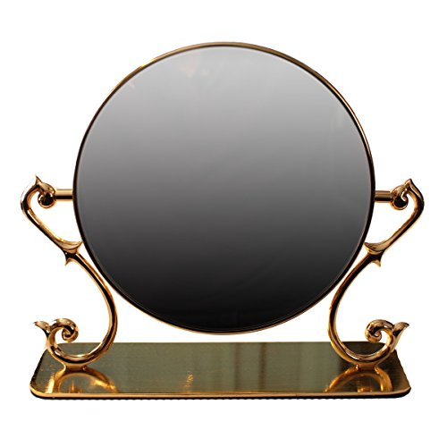 (Renovator's Supply Antique Table Make Up Mirror with Magnifying Swivel Side Cast Brass Bathroom Bedroom Dressing Mirror)