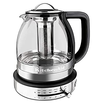 Image of KitchenAid KEK1322SS Electric Glass Tea Kettle, 1.5 L, Stainless Steel