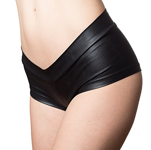 Booty Shorts For Festivals and EDM Events Dancing (Large, Black) (Black Booty Shorts)