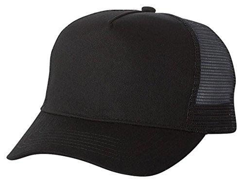 Mega Cap Five Panel PET Mesh Back Trucker, Black, One Size
