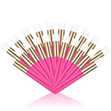 20 Pcs Hot Pink Lash Shampoo Brush Eyelash Extensions Supplies Cosmetic Brushes Peel Off Blackhead Brush Remover Tool Lash Cleanser Soft Brushes (20PC) (Color: Hot Pink)