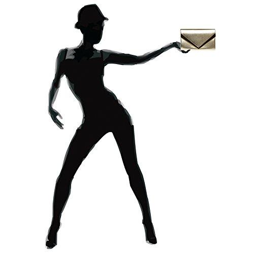 main avec métal décor en pour soirée TA368 CASPAR élégant enveloppe femme Pochette de à Or Sac clutch 4R7Sxpqtw
