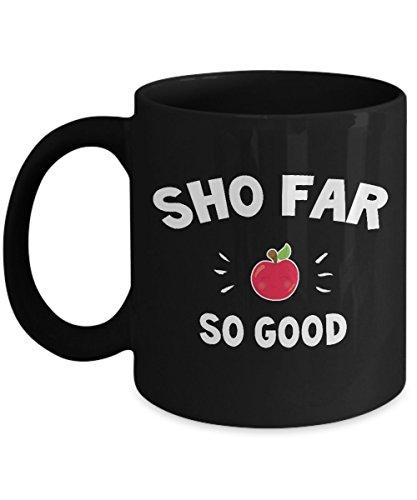 Rosh Hashanah So Far So Good Best Funny Quote, Yom Kippur AND Sukkot Coffee Mug- Shanah Tovah - The Jewish New Year Rosh Hashana Honey and Apple holi