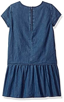 Tommy Hilfiger Big Girls' Denim Dress, Blue Blaze, X-large 1