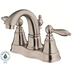 Danze D301040bn Fairmont Two Handle Centerset Lavatory Faucet Brushed Nickel Touch On