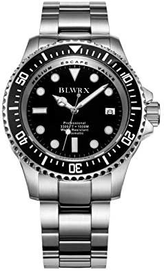 BLWRX 44mm Men s 1000m Diver Japanese Automatic Sport Stainless Steel Watch