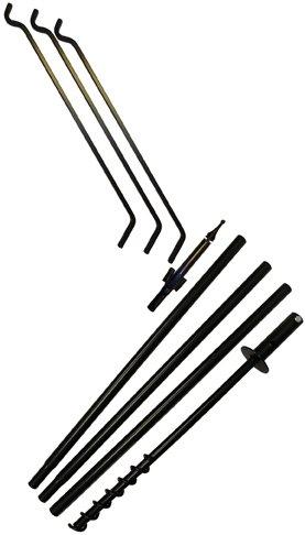 Erva Tool Heavy Duty 80'' 3 Arm Bird Feeder Pole Set w/Twist in Ground Socket by Erva Tool & Die