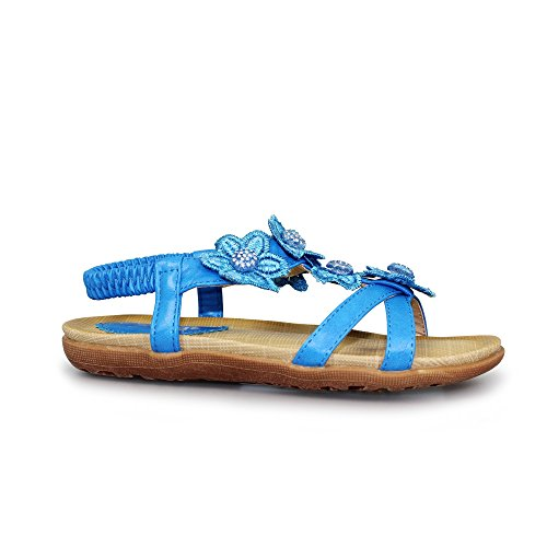 Lunar Fiji Junior Sandal in Black, Blue, White Or Yellow Sizes 28,29,30,31,32,33,34,35 Blue