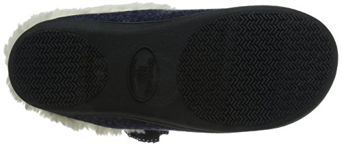 Isotoner Women's Brushed Jersey Sknit Milly Flat Navy Blue FbCYo