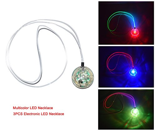 Cofufu 3PCS Electronic LED Necklace / Light-emitting multicolor (Led Necklace)