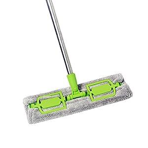 Floor Mops,Cu0027est Premium Floor Microfiber Height Adjustable Head Separable  Windon Cleaning Mop