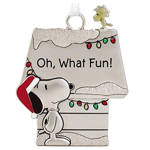 Hallmark Peanuts Snoopy and Woodstock Charmers Oh, What Fun! Metal Christmas Ornament