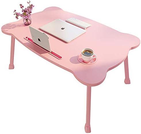 折りたたみ テーブル 机のベッド折りたたみテーブルは、小・アパート表寮シンプルベッドベッドルーム二段ベッドに座っています ローテーブル ミニ (Color : Pink, Size : 60x40x28cm)