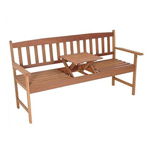 Gartenbank mit Tisch Hartholz 3-Sitzer Sitzbank Bank 150cm Gartenmöbel