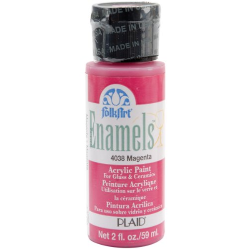 Plaid:Craft Folk Art Enamel Paint 2oz-Magenta