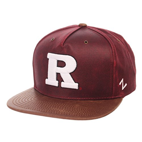 (ZHATS NCAA Rutgers Scarlet Knights Adult Men Tribute Heritage Collection Hat, Adjustable, Team Color/Cracked Leather)