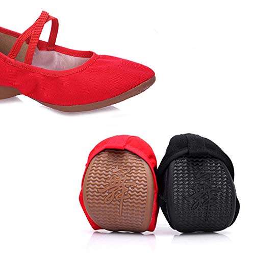 Femmes Pour Espadrilles Black Regbking Danse De Ballerines Chaussures Mocassins TWSXa