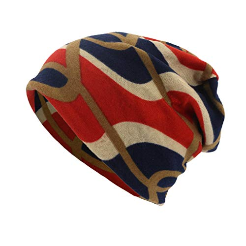 (Pandaie-Womens Hats, Women Geometry Print Scarf Beanie Cap Casaul Outdoor Convertible Windproof)
