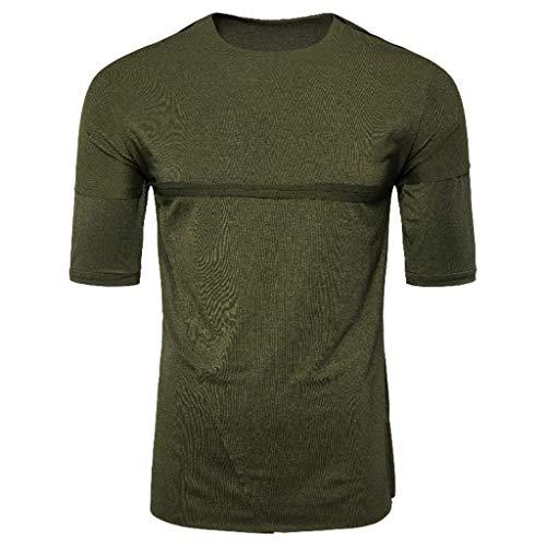 - Giulot Men's Casual Slim Fit Short Sleeve Pocket T-Shirts Cotton V Neck Tops Crew Tee Legend Wash Classic Golf Tee Green