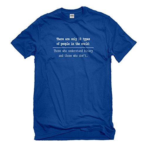 Mens 10 Types of People Medium Royal Blue T-Shirt - Rbm Type