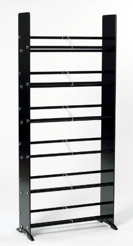 (TransDeco Glass CD DVD Rack for 234 DVD/Blu-Ray/Game 336 CD Storage Rack Black)