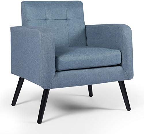 AODAILIHB Accent Chair Mid Century Modern Fabric Single Sofa