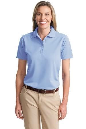 Port Authority Ladies Dry Zone Ottoman Sport Shirt, Blue Lake, 2XL
