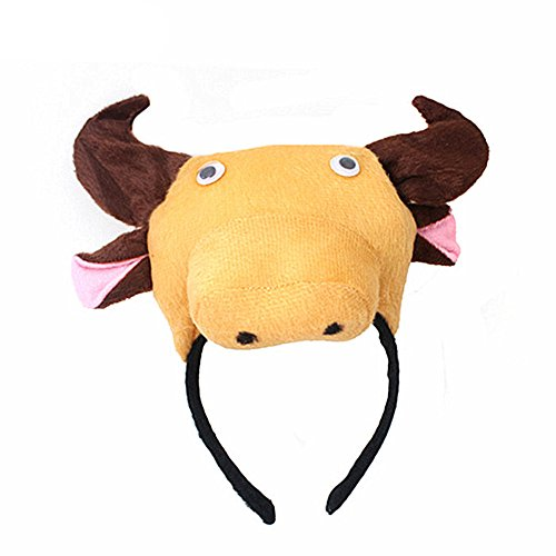 Animals Cute Headband Party Costume Ear Headband Cosplay (Bull)