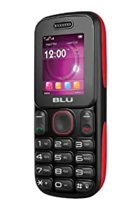 BLU T190Q Tank Unlocked Quad-Band GSM Phone with 1800 mAh Battery, Built-in FM Antenna, Camera, and Bluetooth  - US Warranty - Red