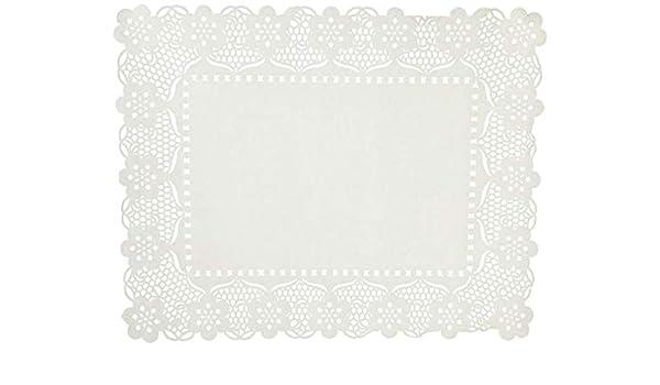 40 x 30 x 30 cm Garc/ía de Pou Blondas Rectangulares Caladas Blanco Set de 50 Papel 40 x 30 cm