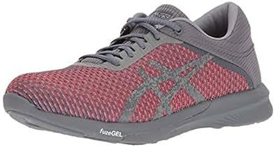 ASICS Women's FuzeX Rush cm Running Shoe, Carbon/Carbon/Flash Coral, 10 Medium US