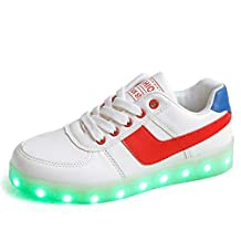 YSNJL LED Shoes Light Up USB Charging Sneakers