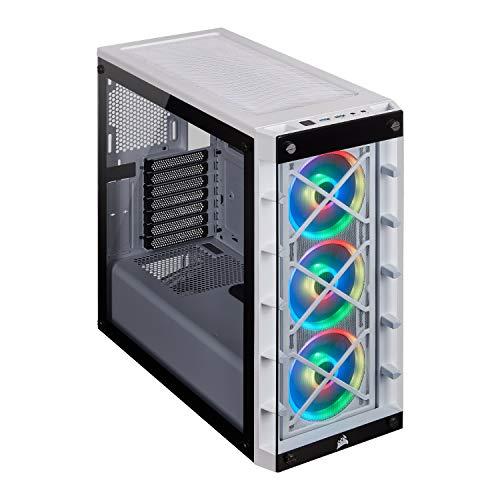 Corsair iCUE 465X RGB Cristal Templado Chasis Semi-torre ATX Inteligente (Paneles Lateral y Frontal de Cristal Templado…
