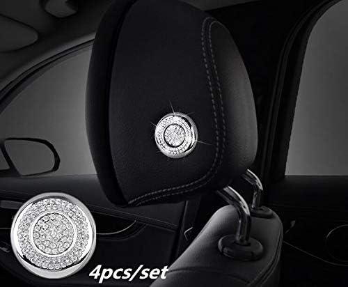 W213 E-Class Front Driver//Passenger Seat Adjust Control Switch iJDMTOY 7pc Silver Chrome Bling Crystal D/écor Trims For Mercedes W205 C-Class X205 GLC-Class