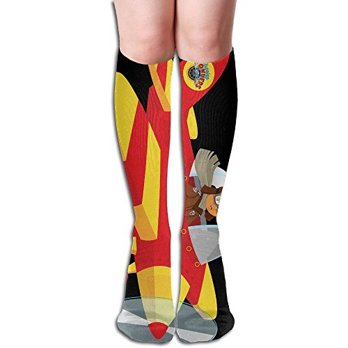 Unisex Flying Bi-Plane Cute Compression Socks-Graduated Compression Knee High Legging Socks