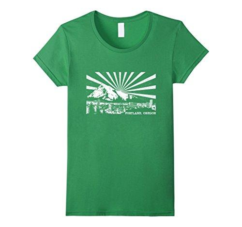 Womens Portland  Oregon Mt  Hood Tshirt Medium Grass