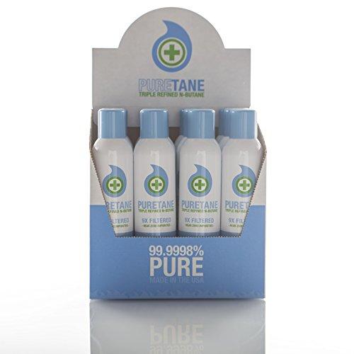 Puretane N-Butane Food-grade Refined 11X Filtered Butane Gas Case 12 Cans