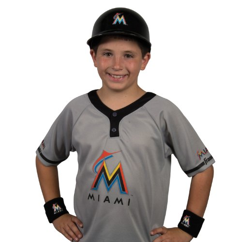 Franklin Sports MLB Miami Marlins Youth Team Uniform Set -