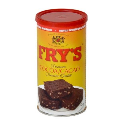 Fry's Premium Baking Cocoa Unsweetened Ideal for Brownies 227g {Imported from Canada}